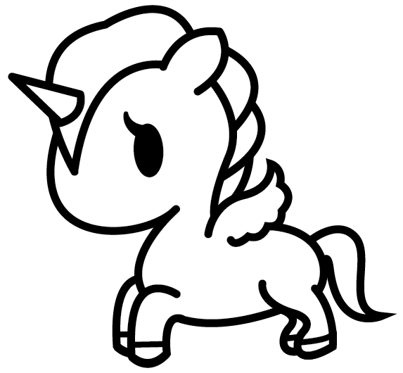 Tokidoki Unicorno Base Unicorn Drawing Unicorn Coloring Pages Cute Coloring Pages