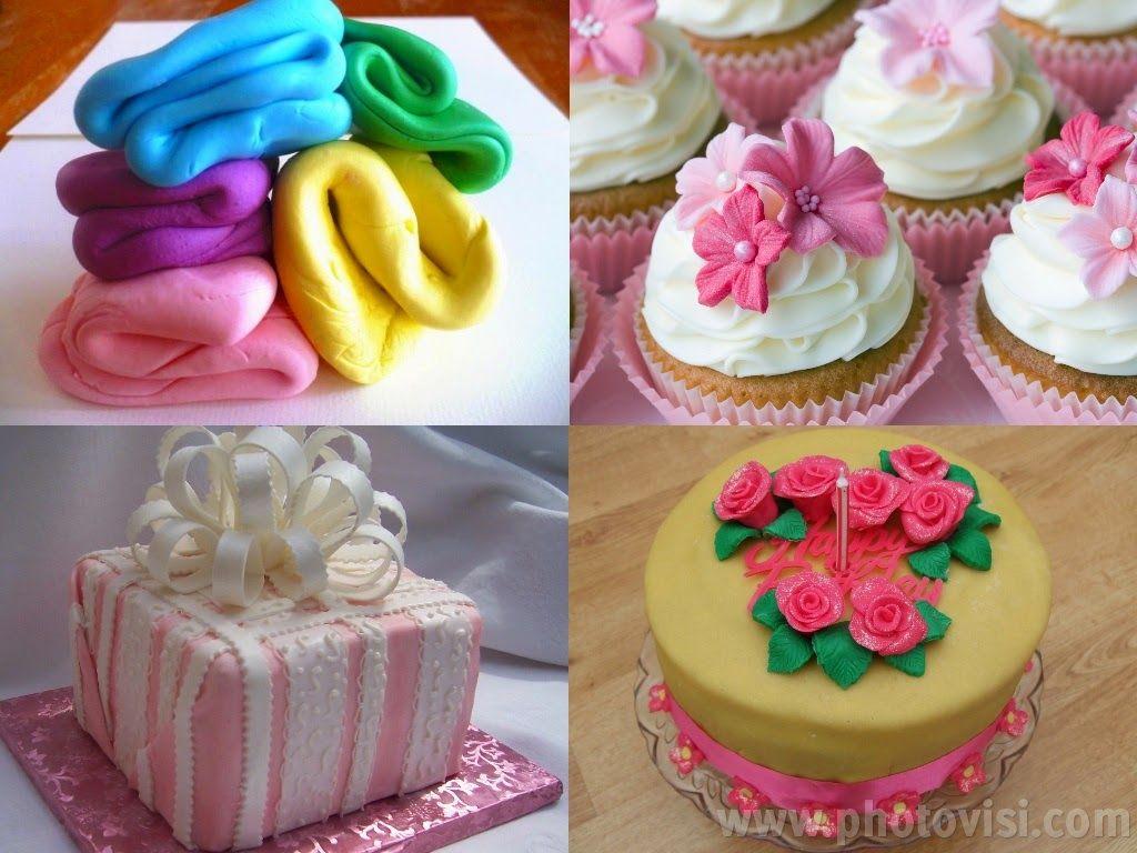 طريقة عمل عجينة الفوندان أو عجينة السكر للتزيين Baking Sweets 3d Jelly Cake Special Cake
