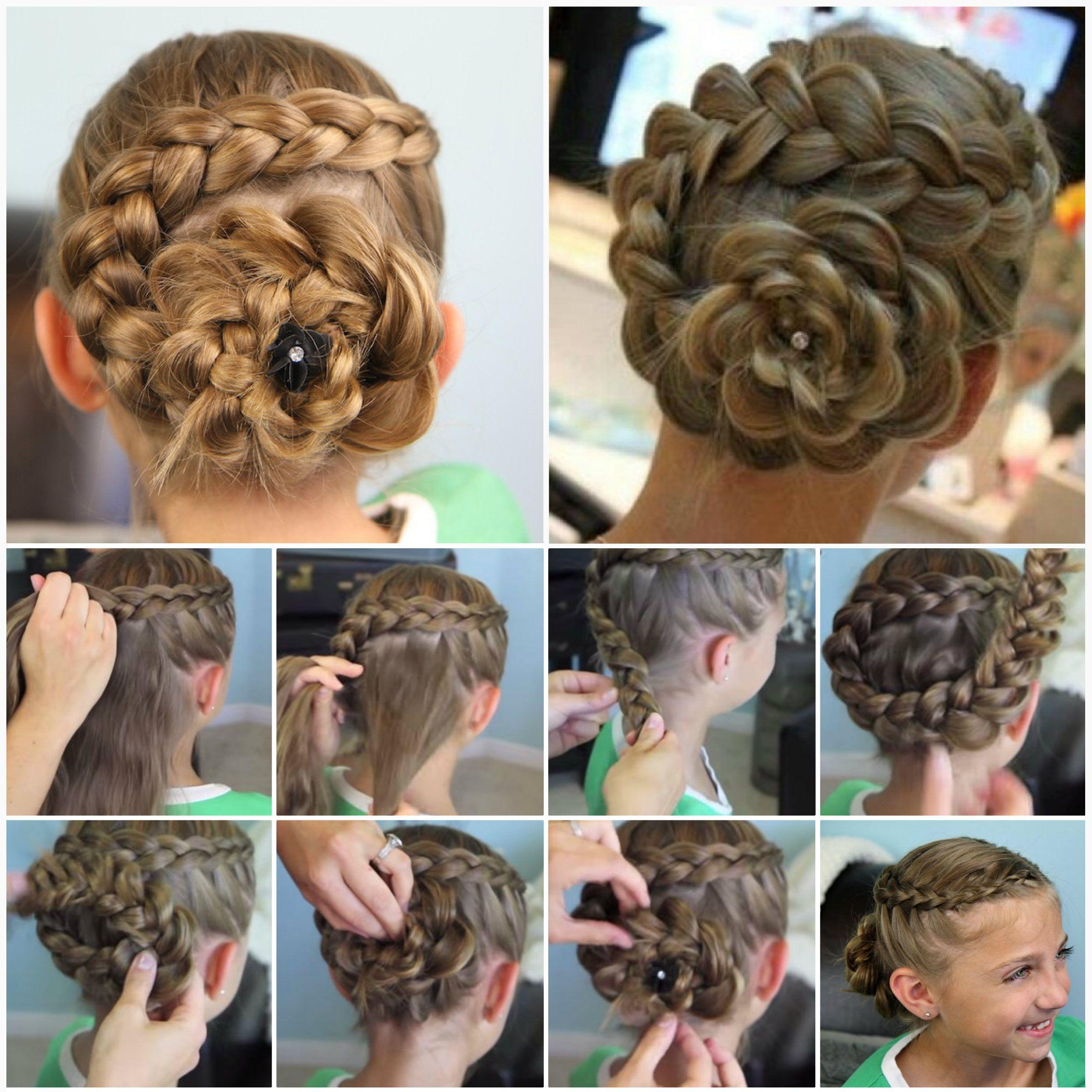 Cute Dutch Flower Braid Hairstyle