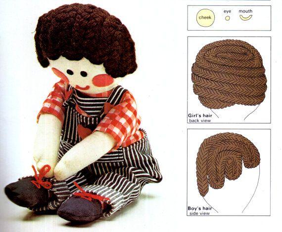 PDF Vintage 'Jolly' Girl & Boy Rag-Dolls by TheAtticofKitsch