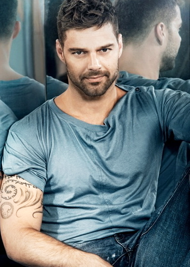 Today's #HunkOfTheDay is the one and only, Ricky Martin! Follow him on Twitter @Ricky_Martin!