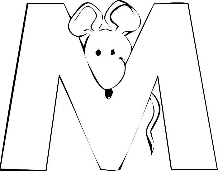 Letter M MouseLetterMColoringPages Mouse Letter M Coloring