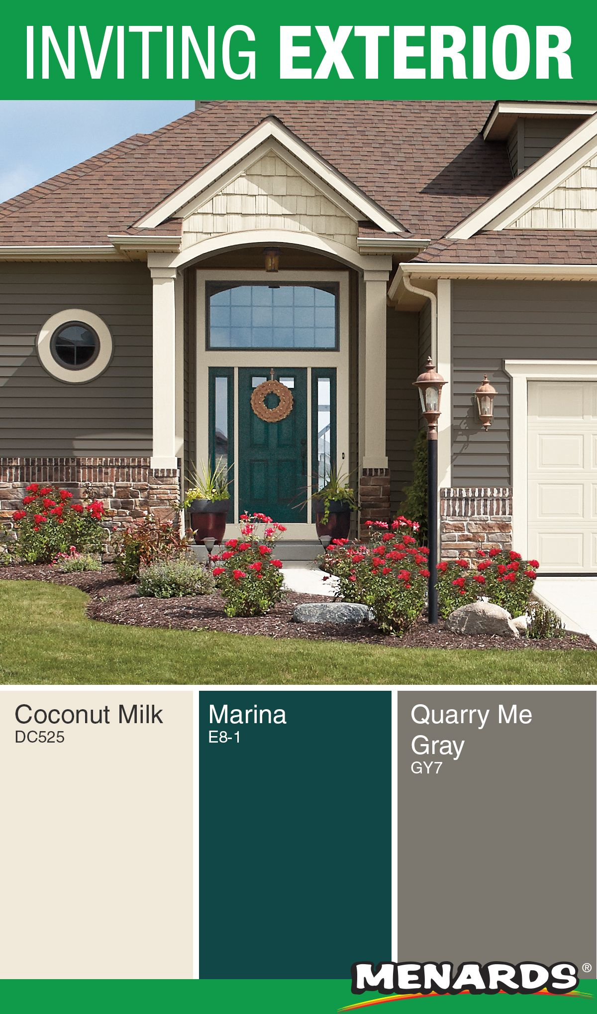 Create An Inviting Exterior For Your Home With Dutch Boy Paints The Grays A Exterior Paint Colors For House House Exterior Color Schemes House Paint Exterior