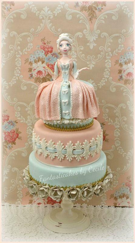 Madame de Pompadour Cake - I made this cake and tutorial ...