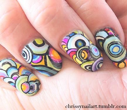 Psychedelic circle nails by chrissy august nail art nail designs psychedelic circle nails by chrissy august nail art nail designs nail art how prinsesfo Choice Image