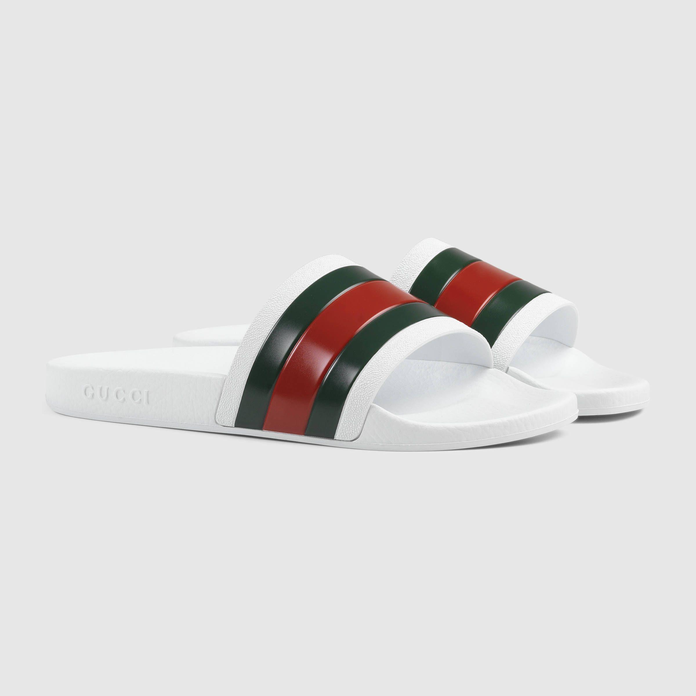 Black gucci sandals - Gucci Men Rubber Slide Sandal 160