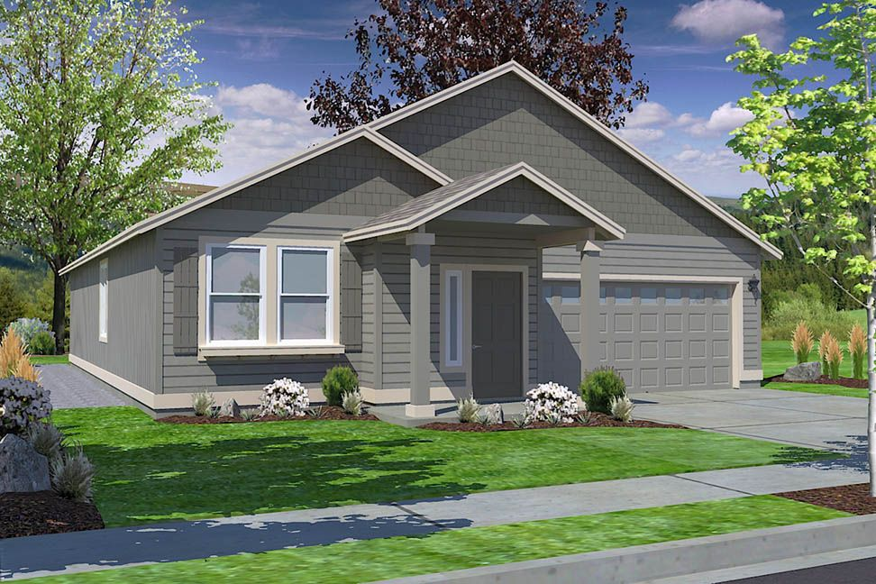 The Hudson By Hayden Homes The 1574 Square Foot Hudson Is An Efficiently Designed Mid Sized Single Level Home O Hayden Homes Hudson Homes New Homes For Sale