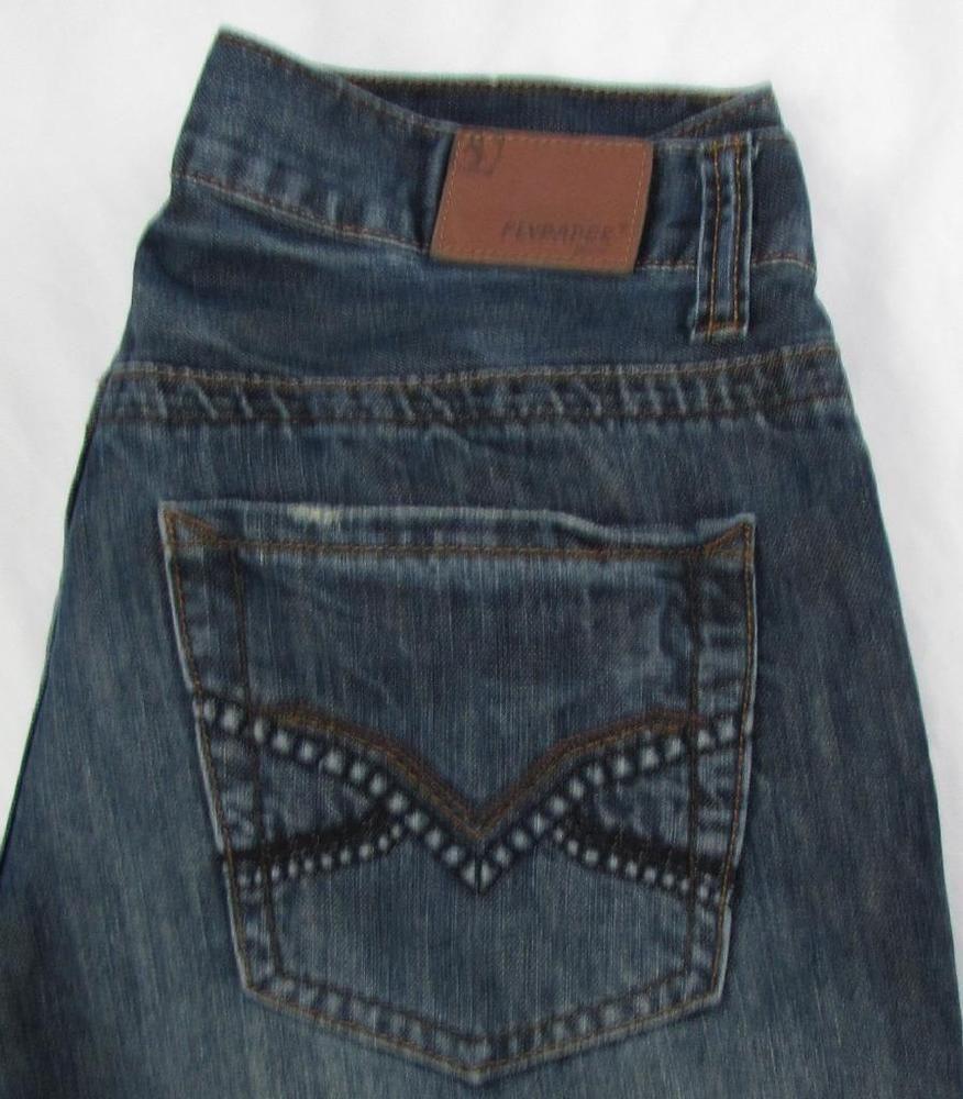 Men Flypaper Straight Leg Jeans Low Rise Dark Wash Whisking 100% Cotton  30 X 31…