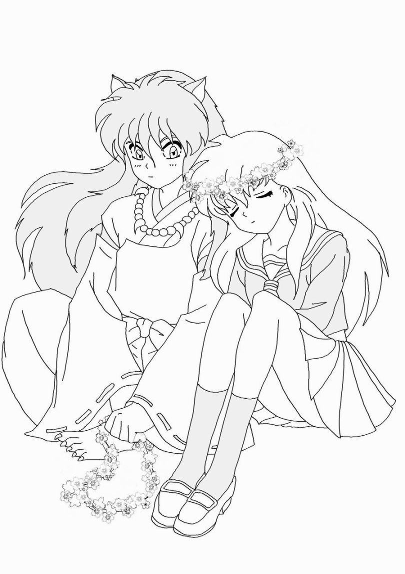 Inuyasha Coloring Pages | Color me happy :) | Pinterest | Páginas ...