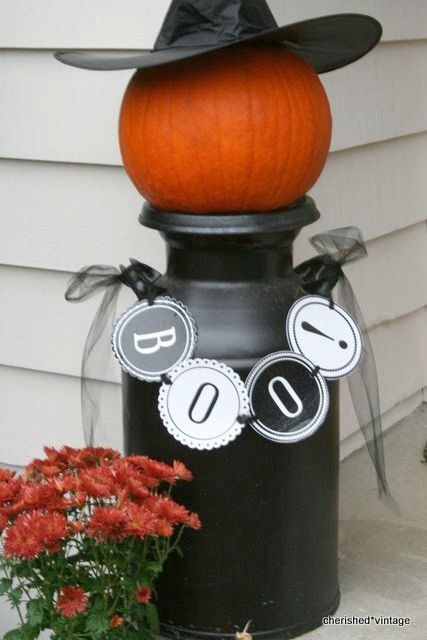 11 Charming Things You Can Do With An Old Milk Can Milk Can by - halloween milk jug decorations