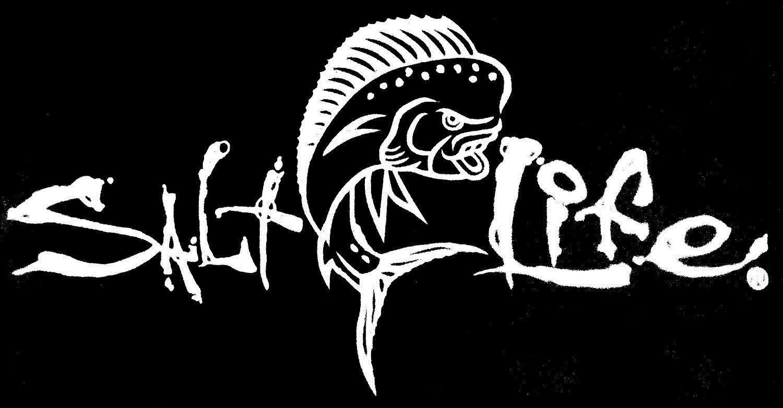 Salt Life Mahi Signature White Uv Rated Vinyl Decal Free Shipping Vinyl Decals Fishing Decals Window Decals [ 782 x 1500 Pixel ]