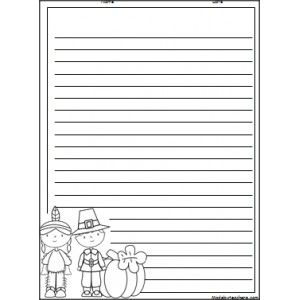 Scarecrow Writing Paper For Kids  Fall Goodies