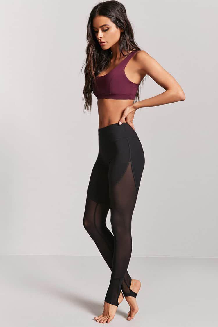 4c56958d15c5bb Leggings Deportivos Paneles Malla - Mujer - Pantalones + Faldas -  2000228041 - Forever 21 EU Español