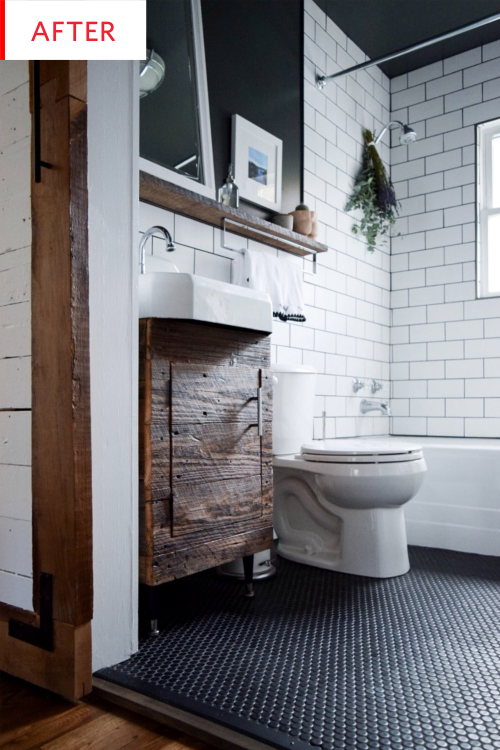 Rustic Bathroom Renovation Before After Apartment Therapy