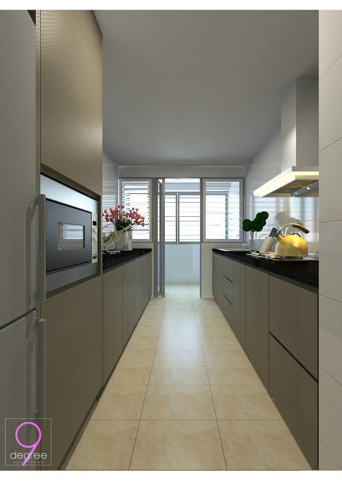Nice hdb bto 4 room 30k blk 671 punggol waterway banks interior design singapore most Best hdb kitchen design