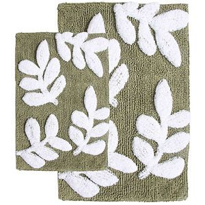 Piece Monte Carlo Bath Rug Set X And X Sage - Sage bath rug for bathroom decorating ideas