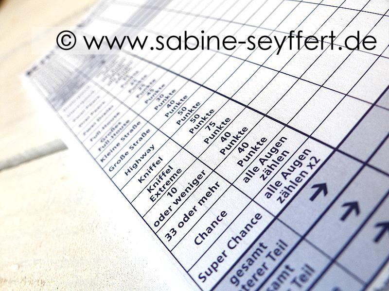 Spiel Spass Blog Sabine Seyffert In 2020 Spass Kniffel Blog
