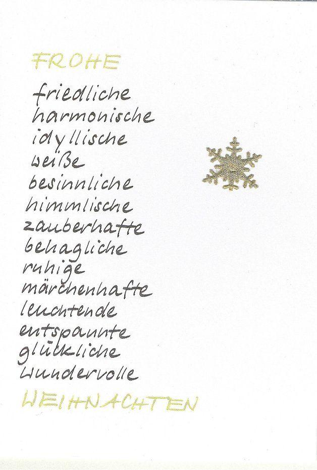 Weihnachten Weihnachtskarte Schneeflocke Ein Designerstuck Von Kartenfreude Bei Dawanda