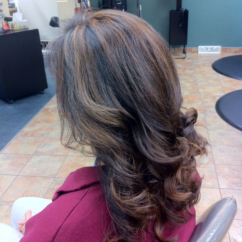 Mocha caramel highlights Long hair styles, Hair styles, Hair