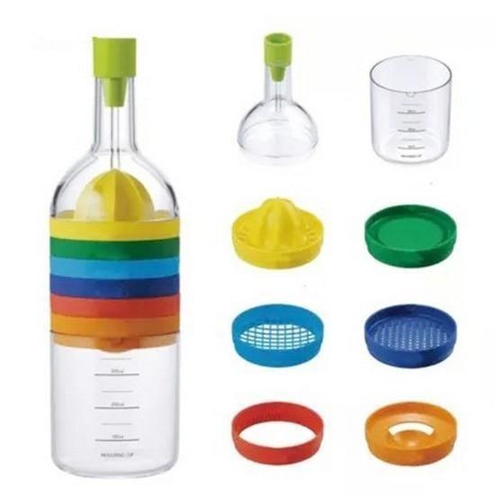 8-IN-1 Ultimate Professional Slicer Grater Grinder Measuring Kitchen Bottle