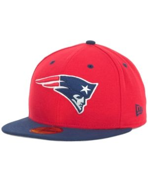 New Era New England Patriots 2 Tone 59FIFTY Fitted Cap - Red Navy 7 3 8 d89670d9e274