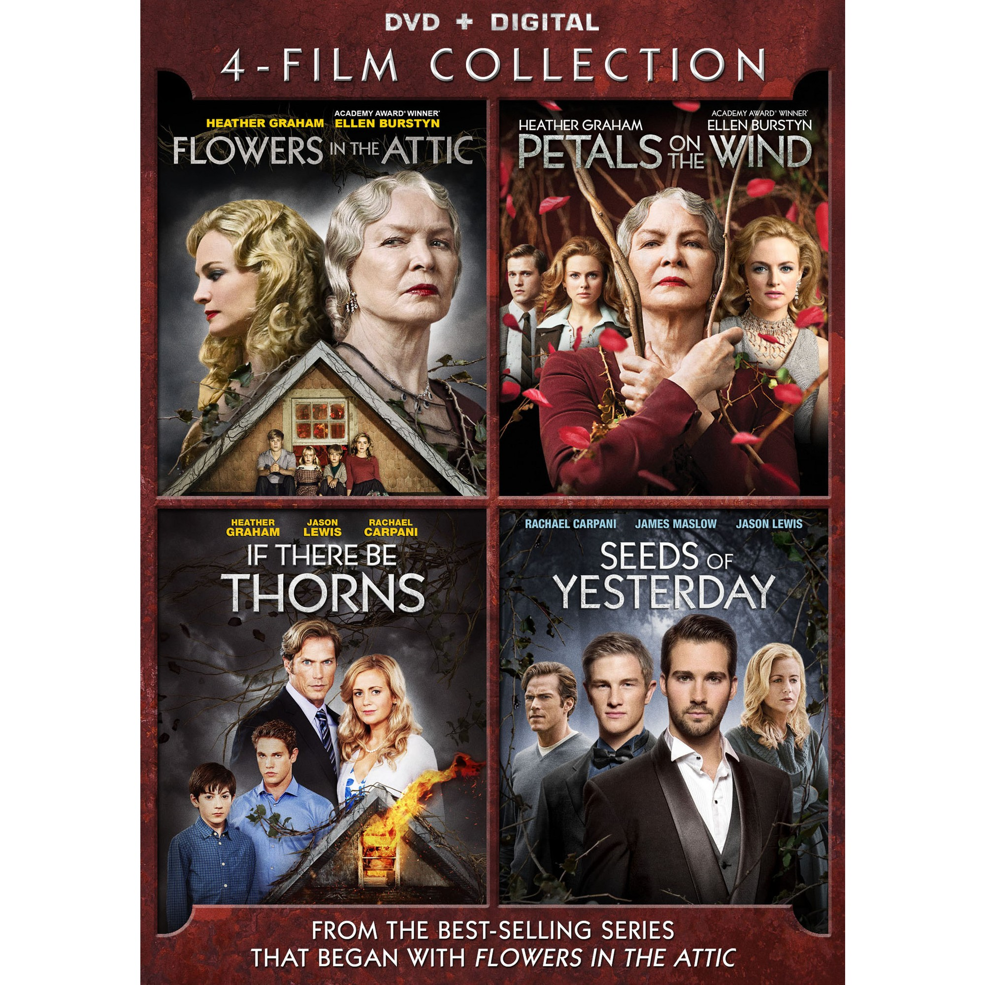4 Film V C Andrews Collection Dvd Flowers In The Attic Petal On The Wind Seeds Of Yesterday