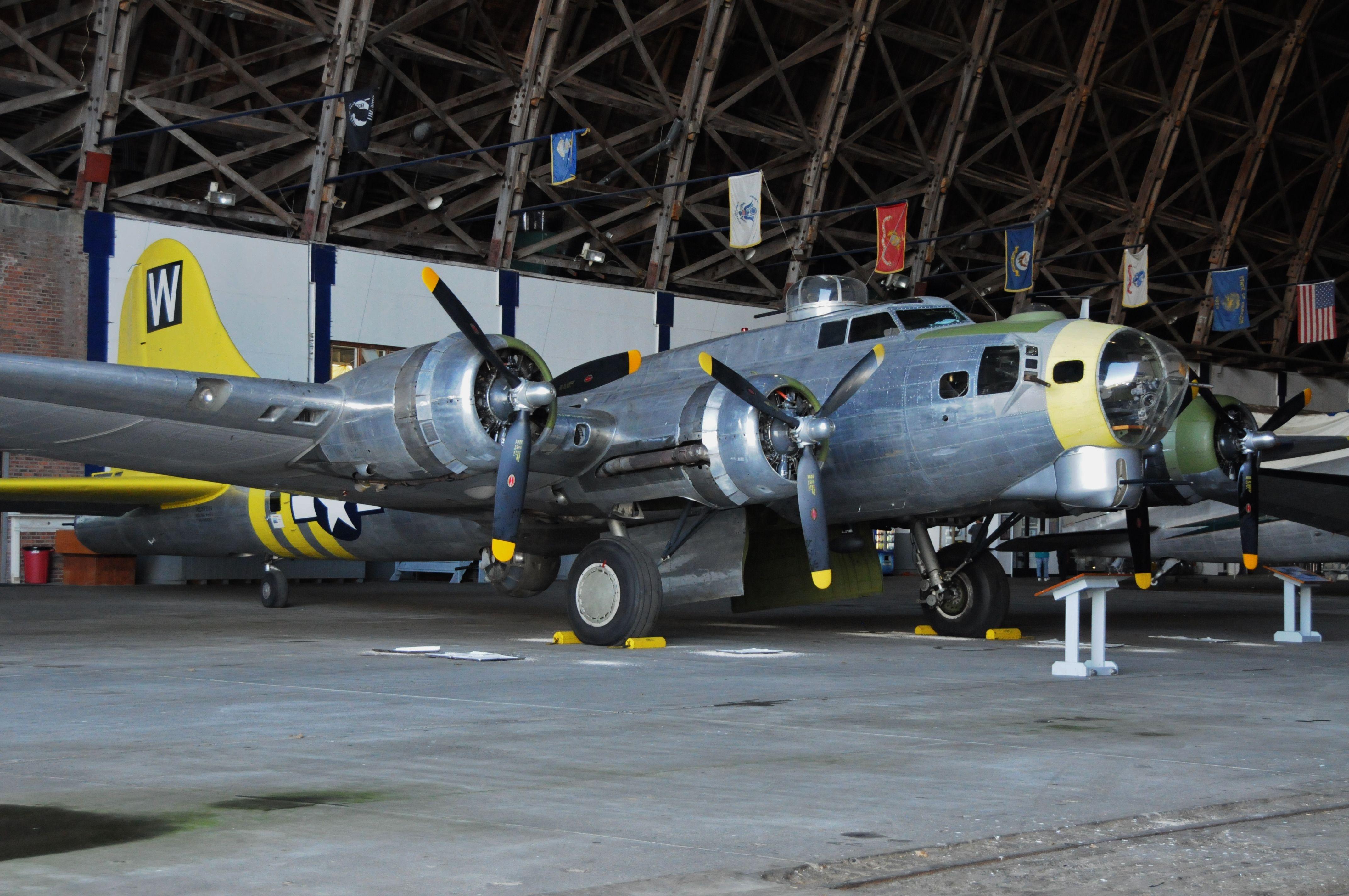 "Flyable Boeing B17, ""Chuckie"" at Tillimook, Oregon"