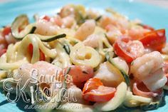 Medifast: Zucchini Pasta in a Lemon Cream Sauce. Add chicken to finish the meal.