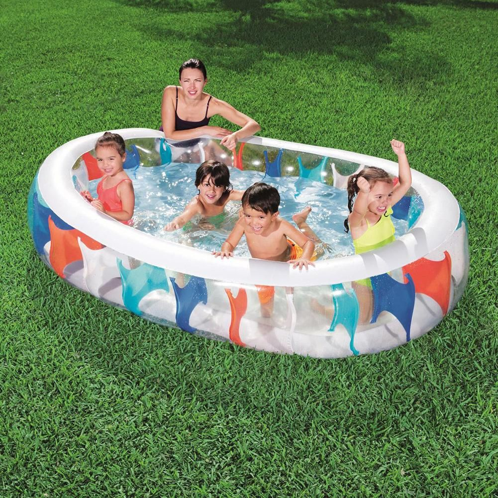229x152x51cmkids Inflatable Pool High Quality Children S Home Use Paddling Pool Large Size Inflatable In 2020 Inflatable Pool Swimming Pool Accessories Swimming Pools