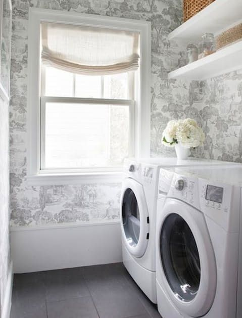 21 laundry rooms that will make you want to do laundry on laundry room wall covering ideas id=40554