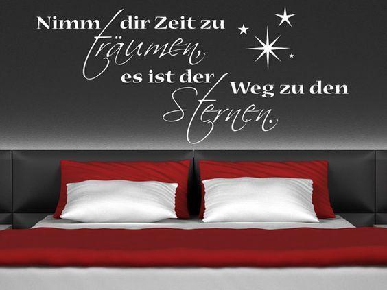 Für alle Träumer gibt es bei uns das Sprüche Wandtattoo Nimm dir - wandtattoos schlafzimmer sprüche