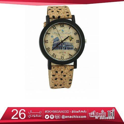 زيني معصمك بأجمل تصاميم الساعات ساعة يد نسائية ب سير عريض و ميناء دائري ب اطار أسود متجر أناشيك ساعات اكسسوار Leather Watch Bracelet Watch Leather