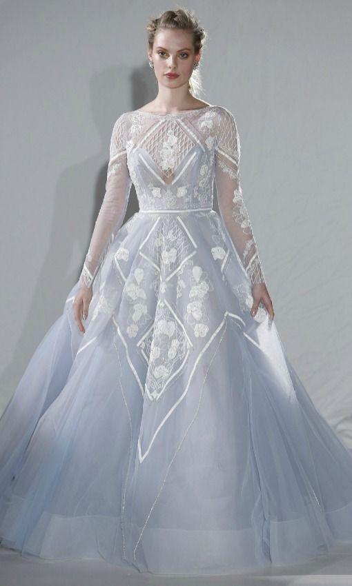 Vestidos de novia con color azul