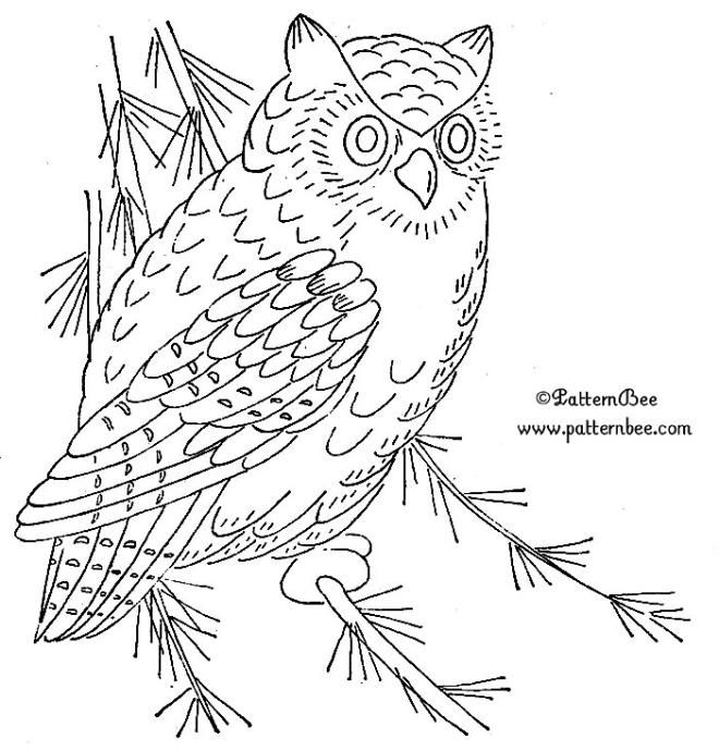 superior Owl Embroidery Pattern Part - 19: owl embroidery patterns | FREE EMBROIDERY PATTERNS