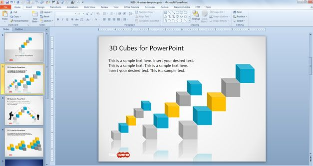 transparent 3d cubes for powerpoint | cube, template and 3d, Powerpoint templates