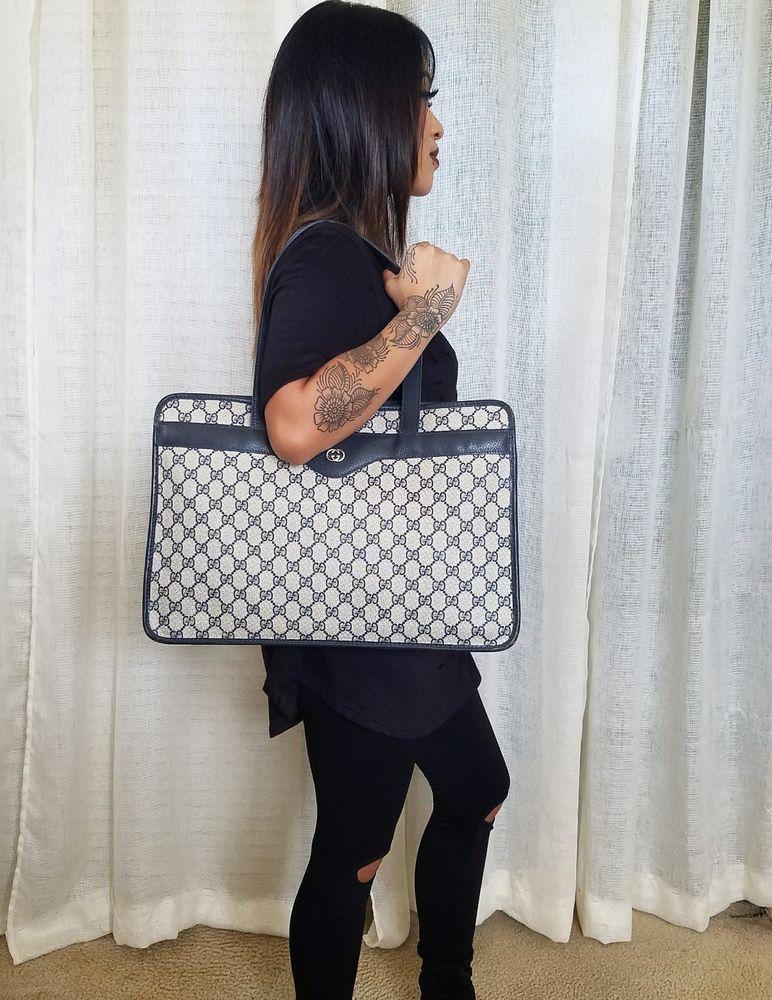 e3f34fa0c Vintage Gucci Tote Shoulder Bag Handbag Purse 80's Authentic GG Monogram  VGC   Clothing, Shoes & Accessories, Women's Handbags & Bags, Handbags &  Purses ...