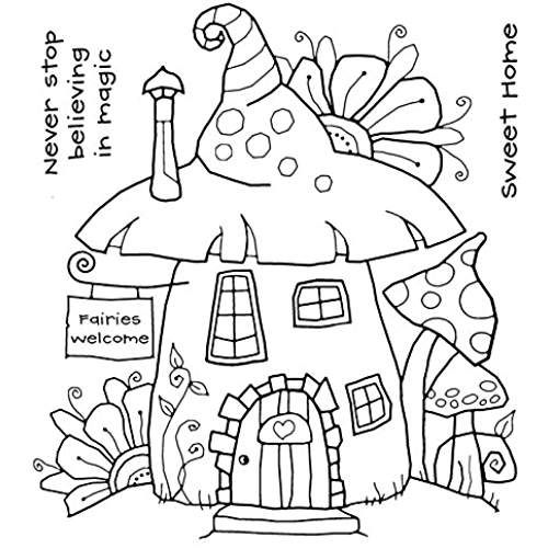 woodware clear singles acrylic stamp set  fairy house