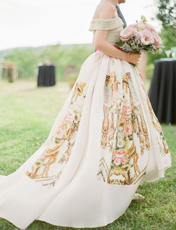 Printed Wedding Dress From Miklosko Fashion Design Http Www Deerpearlflowers Fl Dresses
