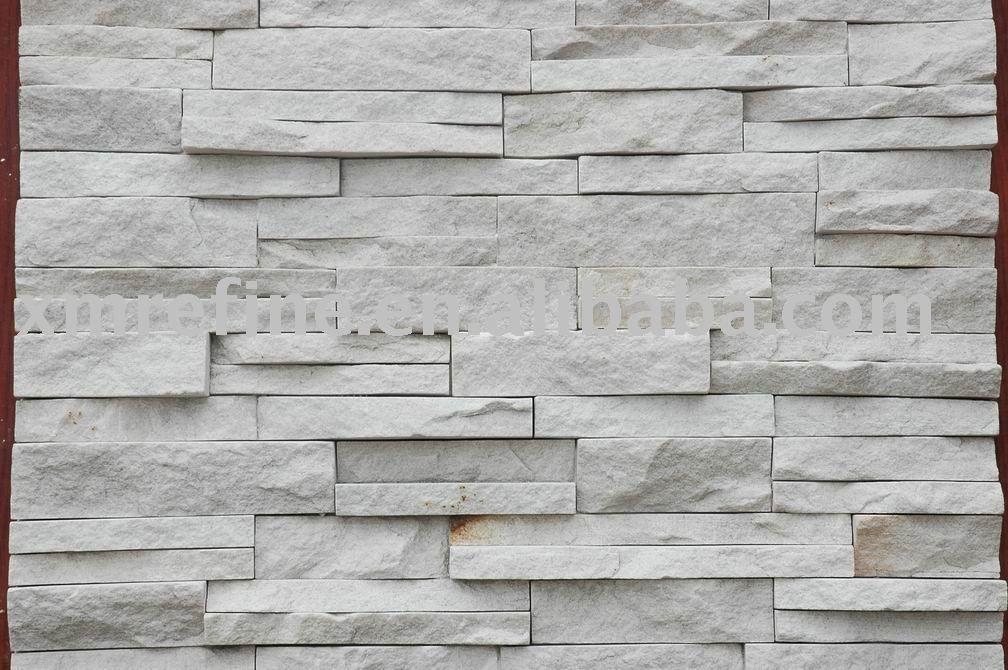 Blanco natural cuarcita piedra exterior de revestimiento - Cantera de pizarra ...