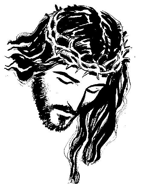 Sagrado Corazon De Jesus Dibujo En Blanco Y Negro