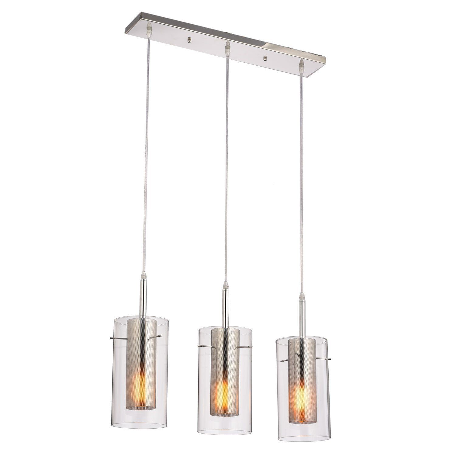 Claxy Ecopower Chrome Kitchen Pendant Lighting Fixture Lights - Kitchen pendant lighting amazon