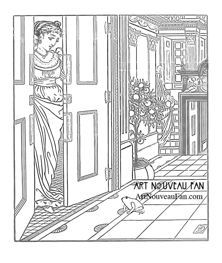The frog prince by walter crane a part of my coloring books for grown ups