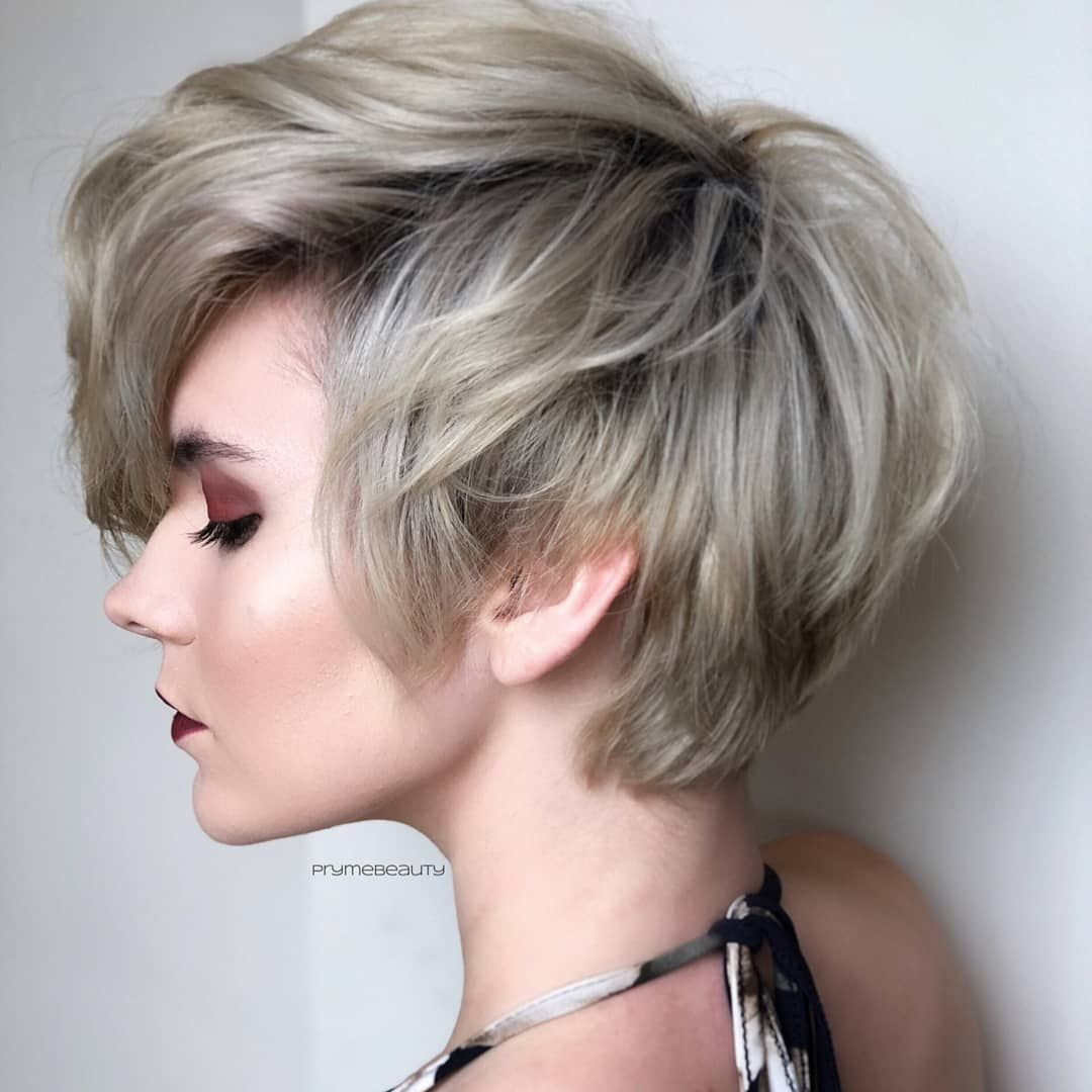 easy short layered hairstyles, stylish short haircut for