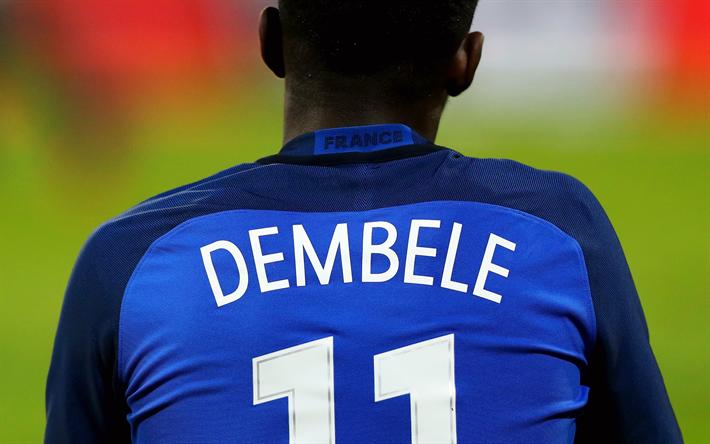 Download Wallpapers 4k Ousmane Dembele Fff Football Dembele