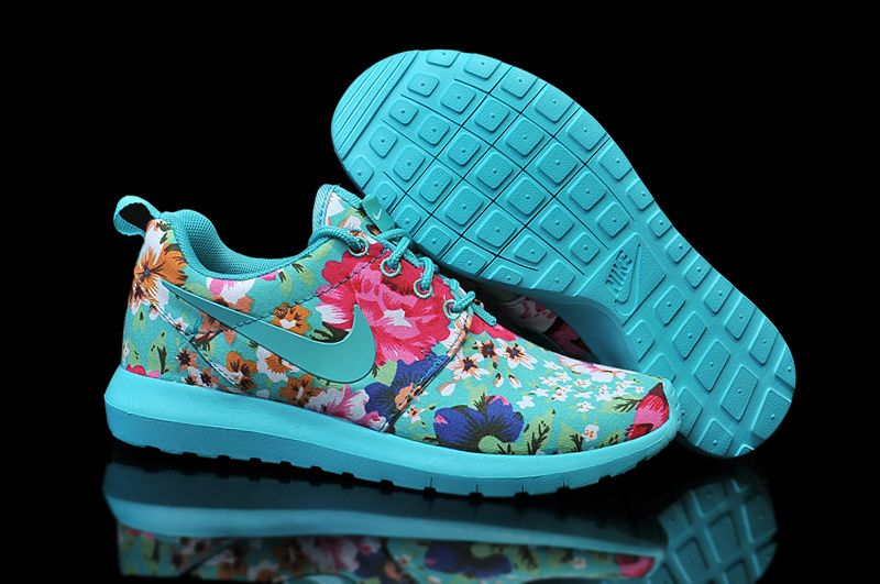 20592b8895a9 Nike Roshe Run Womens Floral Turquoise I want these but they don t have my  size  (