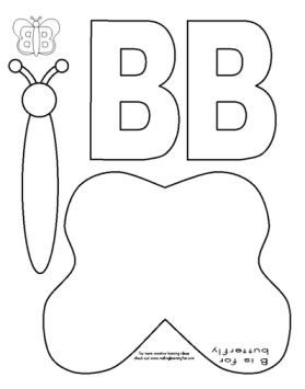 muck monsters letter b b is for butterfly cut and paste kids stuff pinterest homeschool. Black Bedroom Furniture Sets. Home Design Ideas