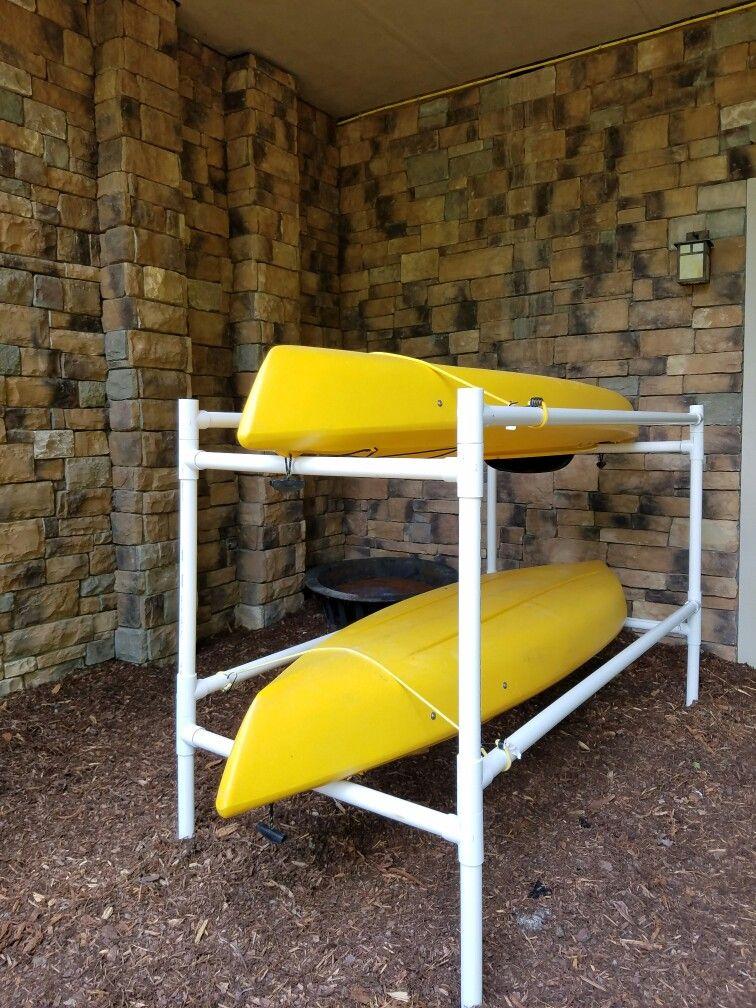 ideas for storing kayaks in garage - Kayaks Kayak stand and Kayak rack on Pinterest