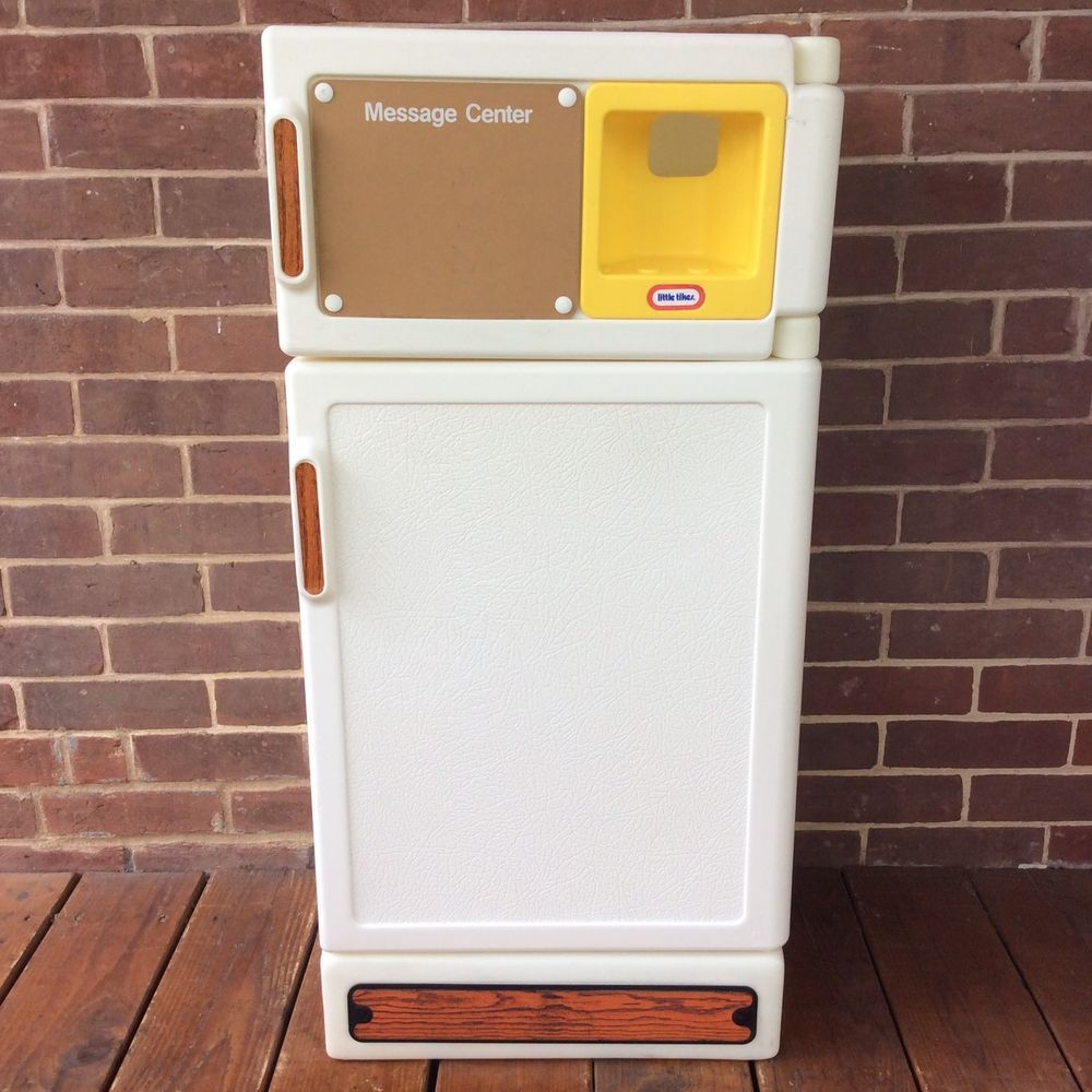 Vintage Little Tikes Child Size Toy Refrigerator Fridge Freezer ...