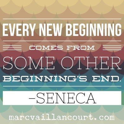 A quote from Seneca featured as part of Marc Vaillancourt's #MondayMorningInpiration series.