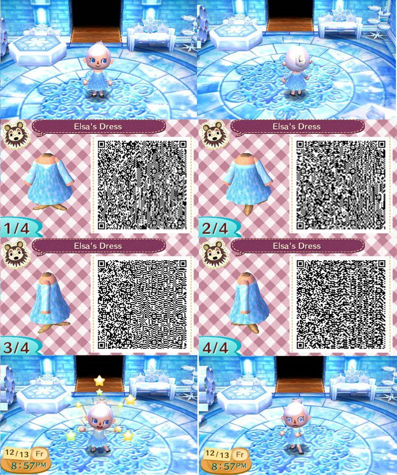 Animal crossing new leaf qr elsa by anj6193 animal for Floor qr codes new leaf